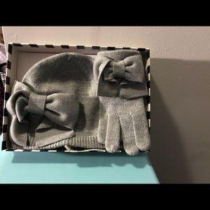 Kate Spade Dorothy Bow Beanie & Gloves Set